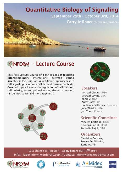 affiche lecture Course INFORM 2014- last registrations