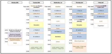 INFORM Lecture Course 2014 - timetable