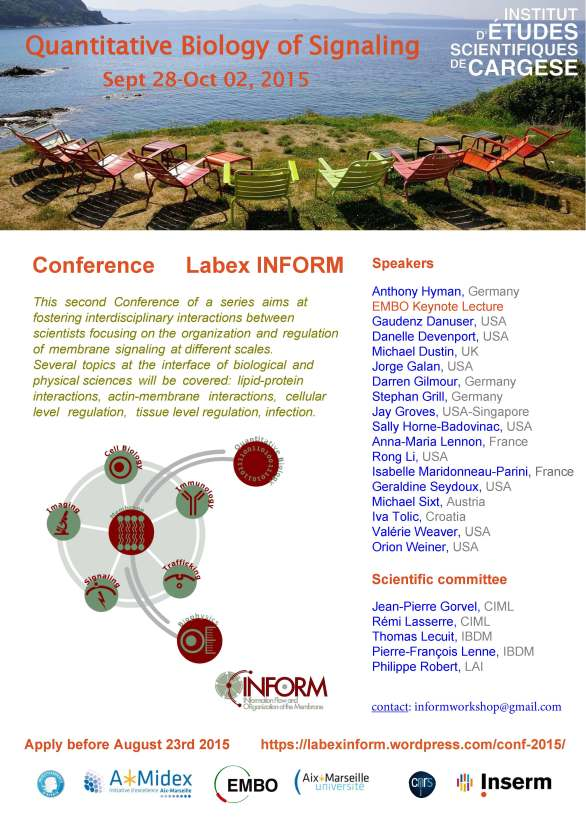Flyer Qbio conference - CARGESE 2015 - 040815